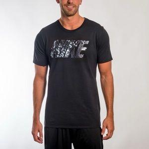 Nike Black T-shirt Gray Camo Print S